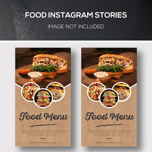 Voedsel instagramverhalen Premium Psd