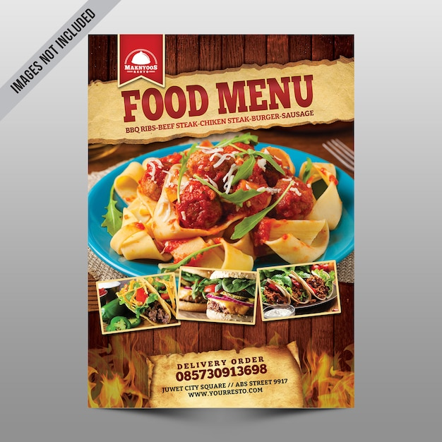 Voedsel menu Premium Psd