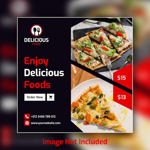 Voedsel sociale media post banner sjabloon psd Premium Psd