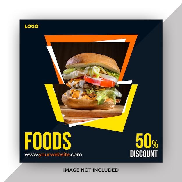 Voedsel sociale media post sjabloon Premium Psd
