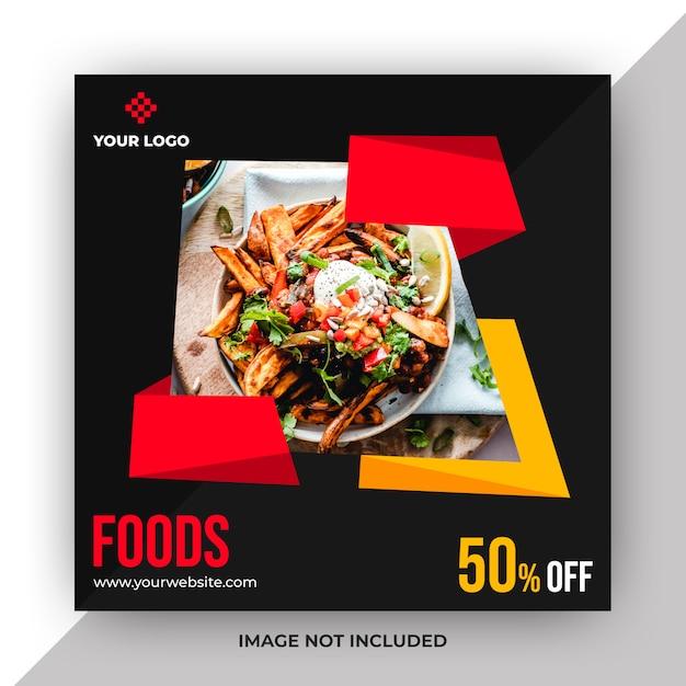 Voedsel web post sjabloon Premium Psd