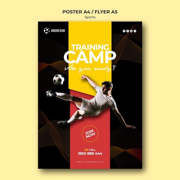 Voetbal club trainingskamp poster Gratis Psd
