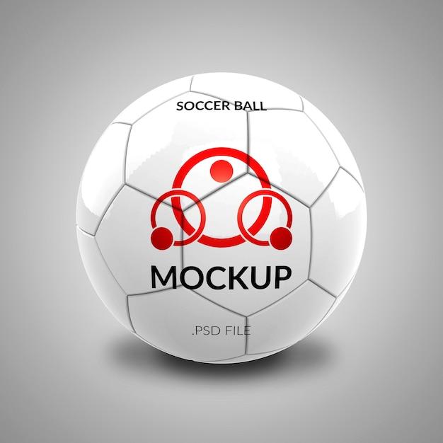Voetbal logo mockup geïsoleerd Premium Psd