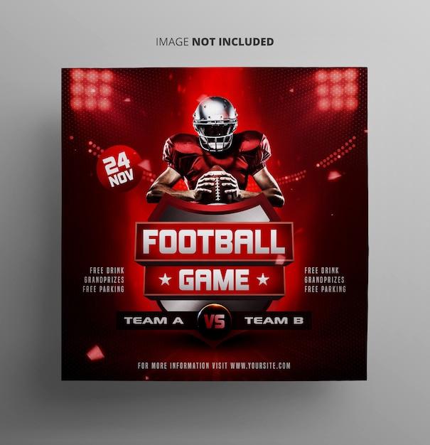 Voetbal sportevenement sjabloon folder Premium Psd