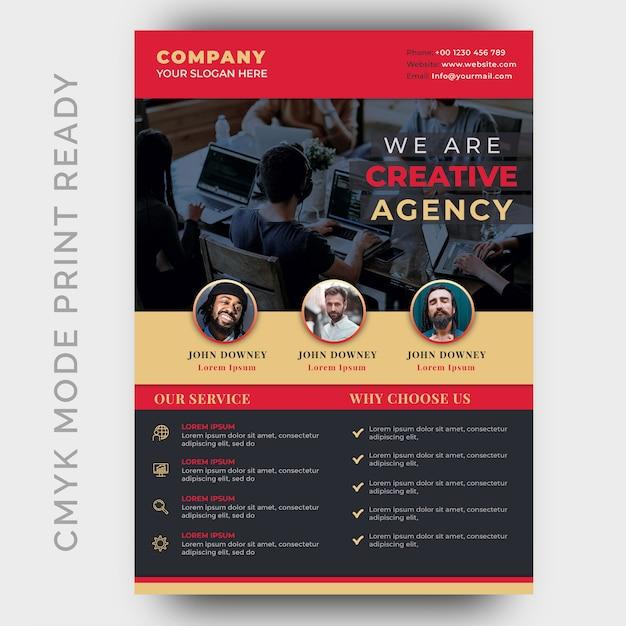 Volantino aziendale moderna agenzia creativa Psd Premium