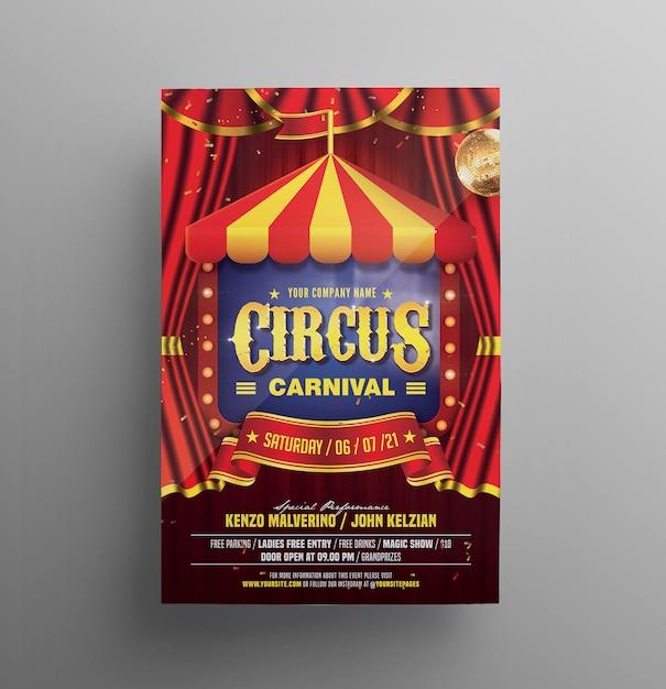 Volantino carnevale circo Psd Premium