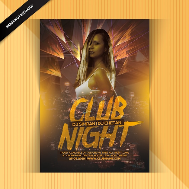 Volantino club night party Psd Premium