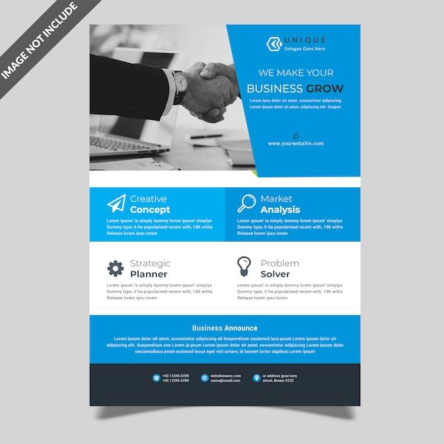 Volantino creativo semplice Psd Premium