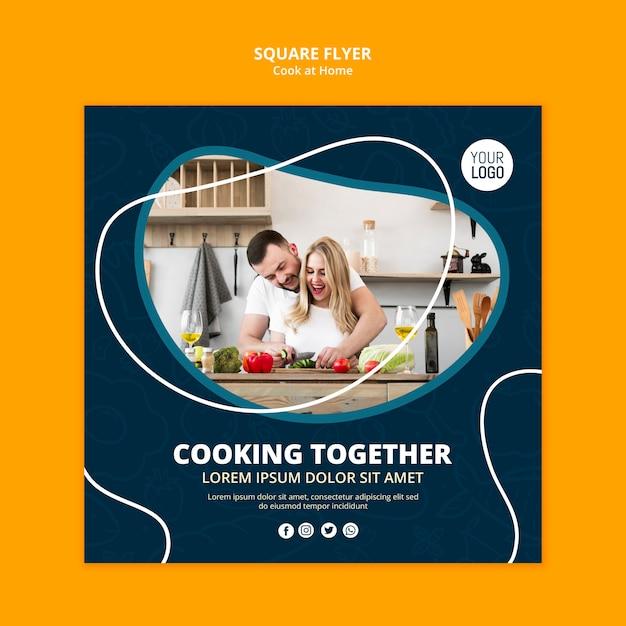 Volantino di cucina a casa Psd Gratuite