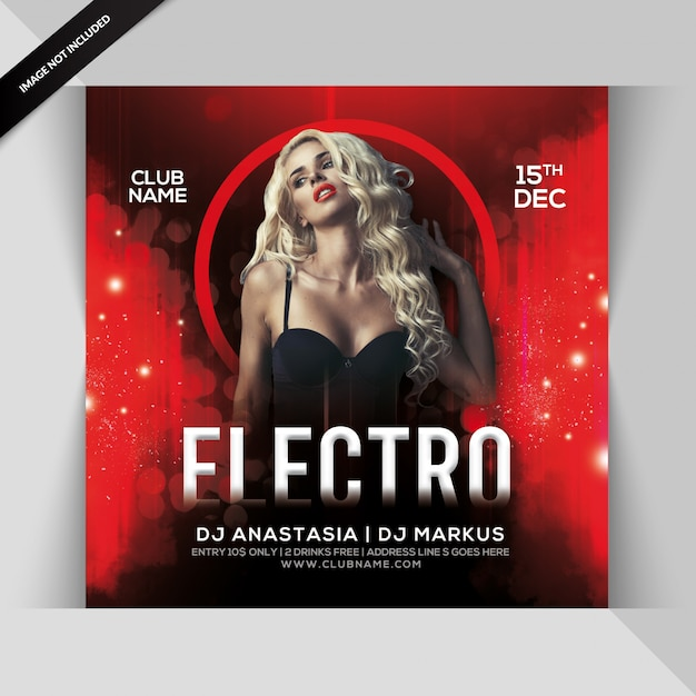 Volantino elettro party Psd Premium