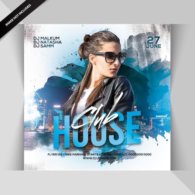 Volantino festa club house Psd Premium
