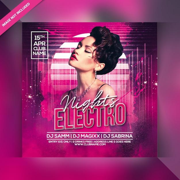 Volantino festa elettro notte Psd Premium