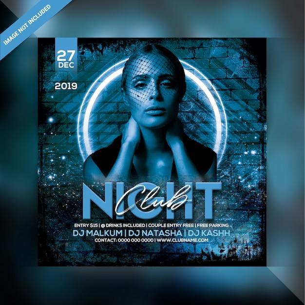 Volantino festa night club Psd Premium