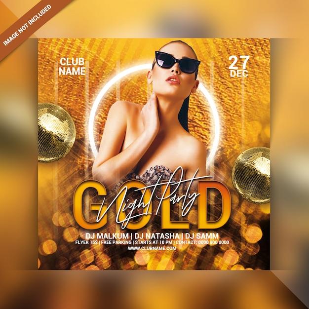 Volantino festa notte d'oro Psd Premium