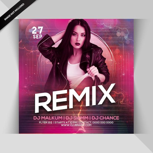 Volantino festa remix Psd Premium