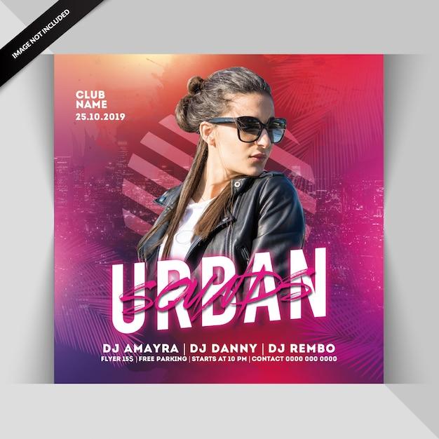 Volantino festa suoni urbani Psd Premium