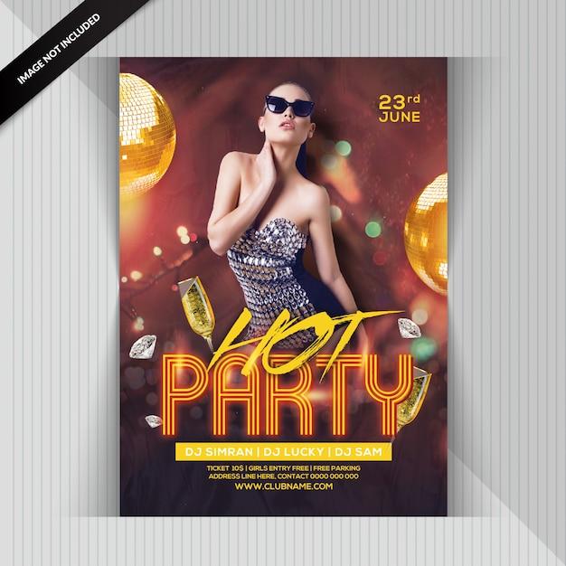 Volantino per ragazze hot party Psd Premium