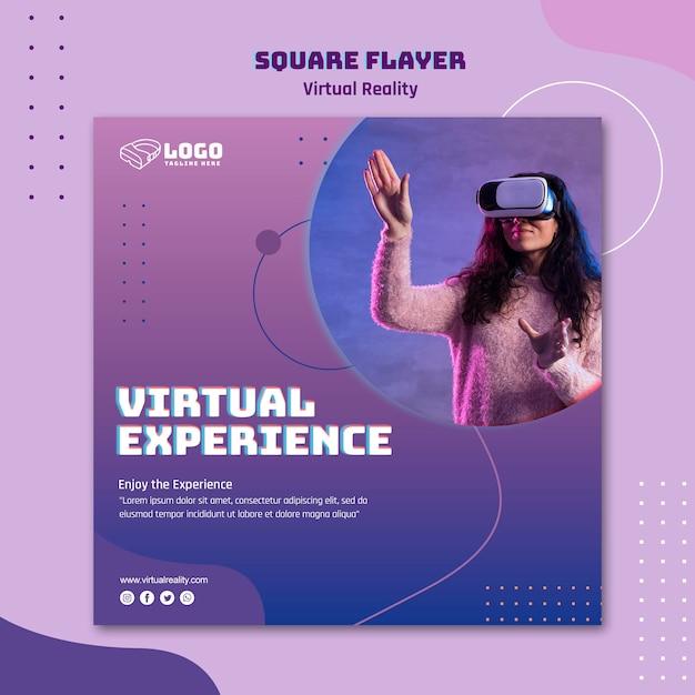 Volantino per realtà virtuale Psd Gratuite