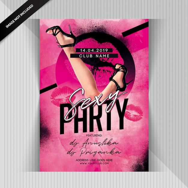 Volantino sexy del partito Psd Premium