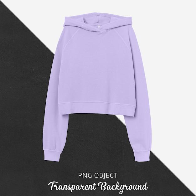 Vooraanzicht van basic crop hoodie mockup Premium Psd