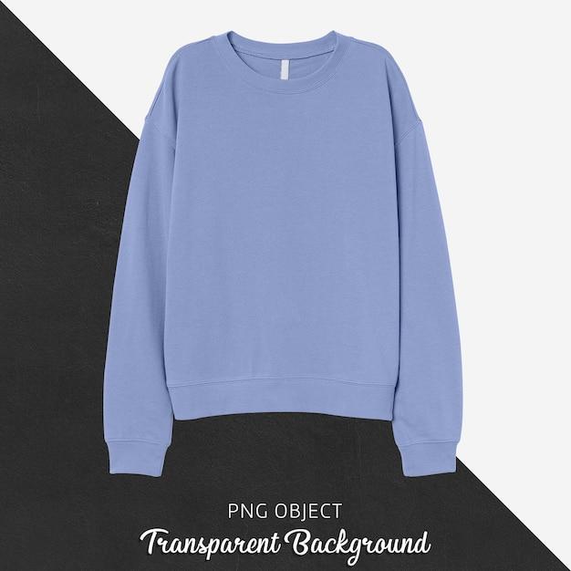 Vooraanzicht van basic lichtblauw sweatshirtmodel Premium Psd