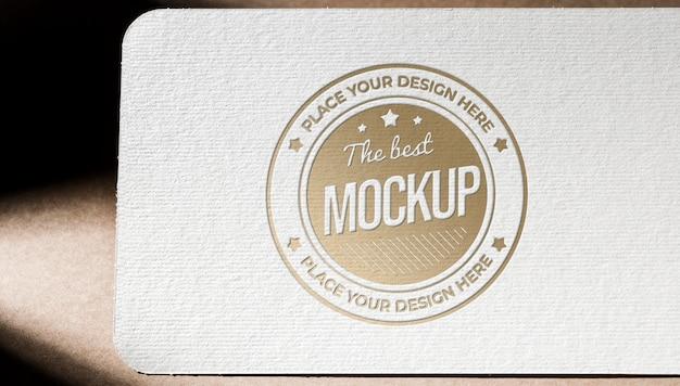 Vooraanzicht van gestructureerd visitekaartje papieren mock-up Gratis Psd