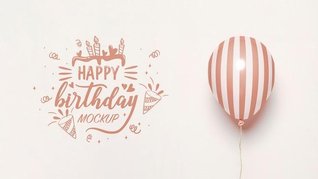 Vooraanzicht van mock-up ballonnen voor verjaardag Gratis Psd