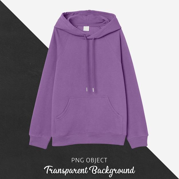 Vooraanzicht van paars hoodie-model Premium Psd