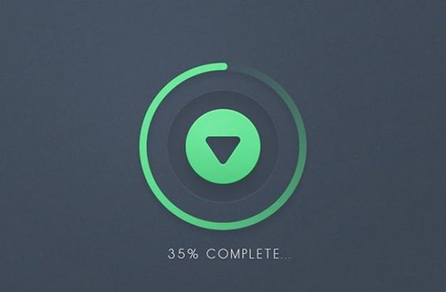 Vooruitgang ronde bar download knop psd Gratis Psd