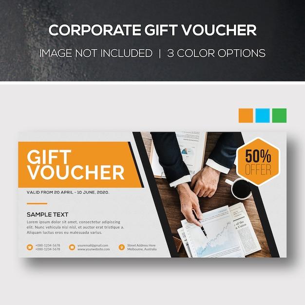 Voucher regalo aziendale Psd Premium