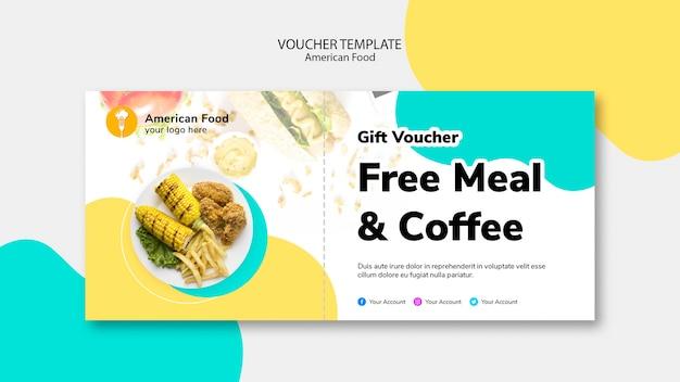 Voucher sjabloon voor gratis maaltijd Gratis Psd