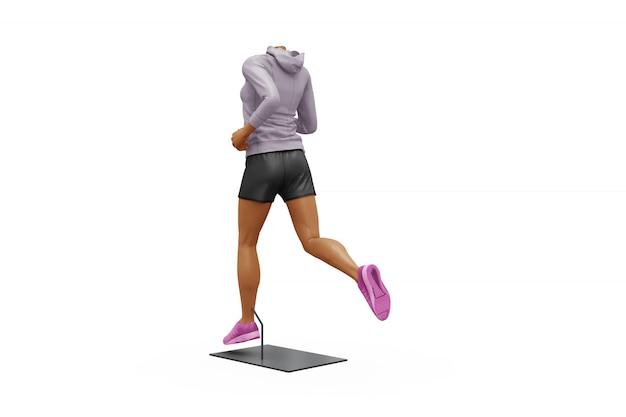 Vrouwelijke sport outfit mock-up geïsoleerd Gratis Psd