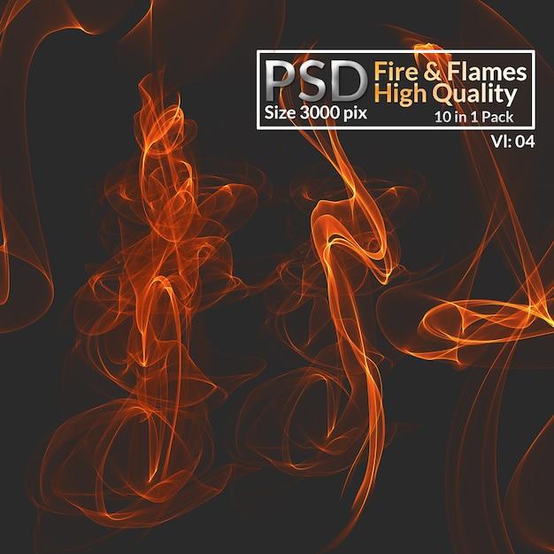 Vuur en vlammen van hoge kwaliteit Premium Psd