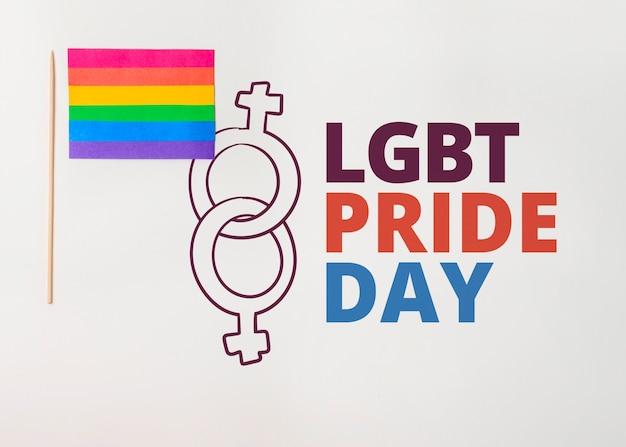 Wall gay pride mockup Psd Gratuite