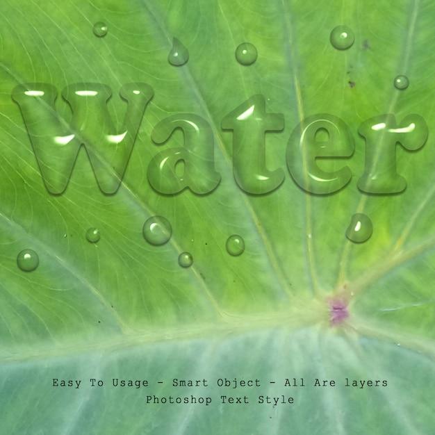 Water tekststijl effect Premium Psd