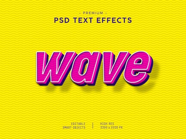 Wave text effect Premium Psd