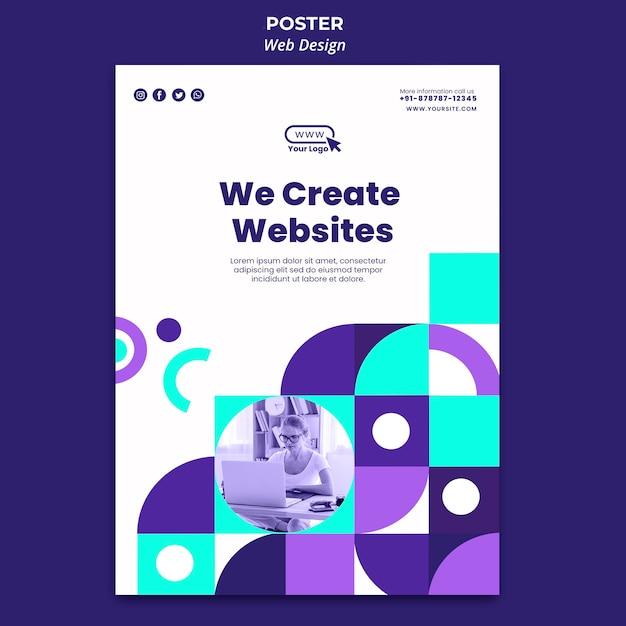 We maken websites postersjabloon Gratis Psd