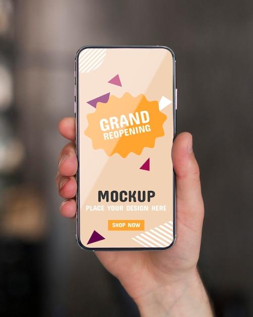 We zijn een open concept mock-up Premium Psd