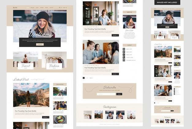 Website sjabloon voor persoonlijke blog Premium Psd