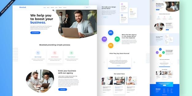 Websjabloon voor creatief bureau Premium Psd
