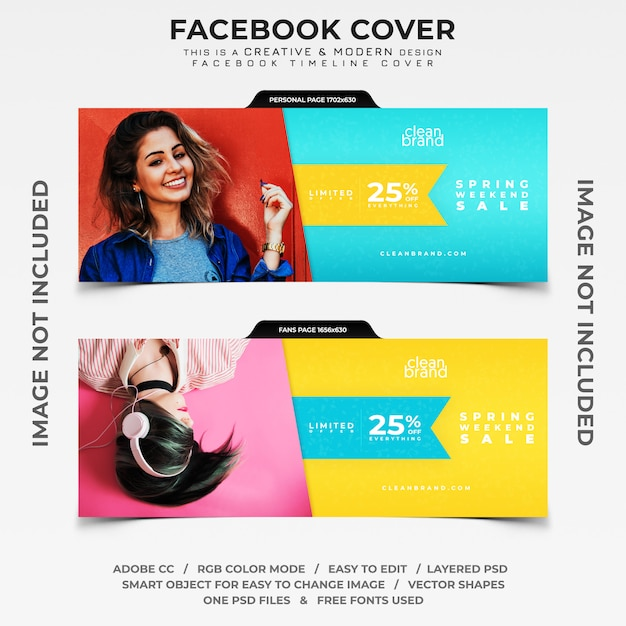 Weekend te koop facebook tijdlijn cover banner Premium Psd