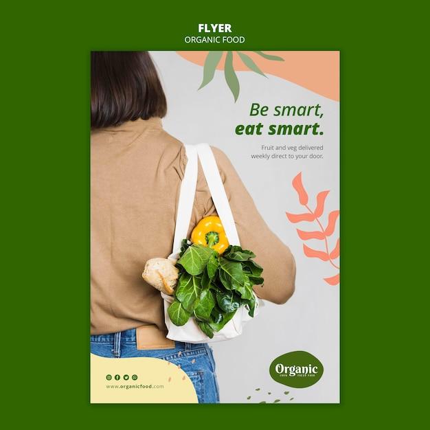 Wees slim, eet slim flyer-sjabloon Gratis Psd