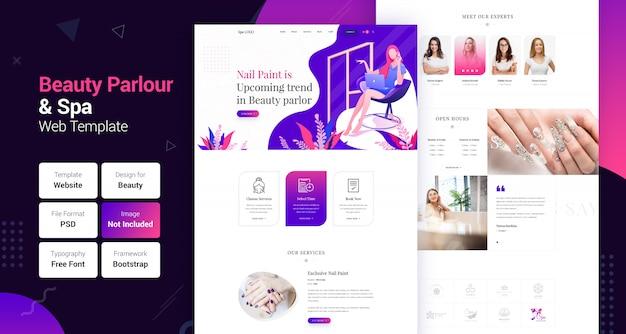 Wellness center schoonheidssalon & spa website sjabloon Premium Psd