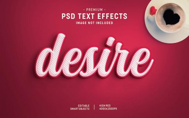 Wens valentine teksteffectsjabloon Premium Psd