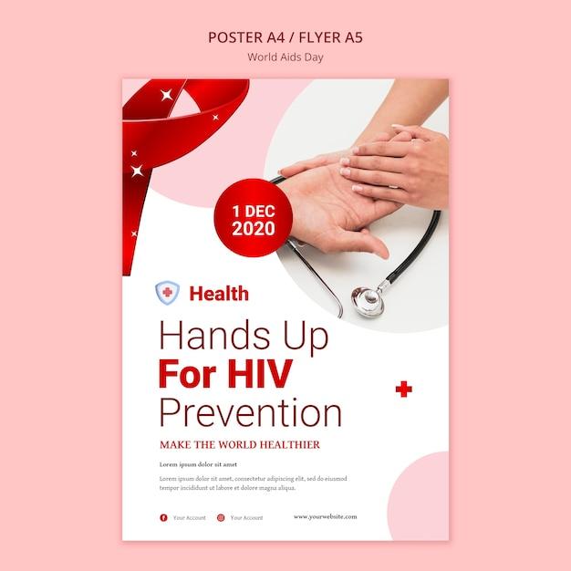 Wereld aids dag poster sjabloon Gratis Psd