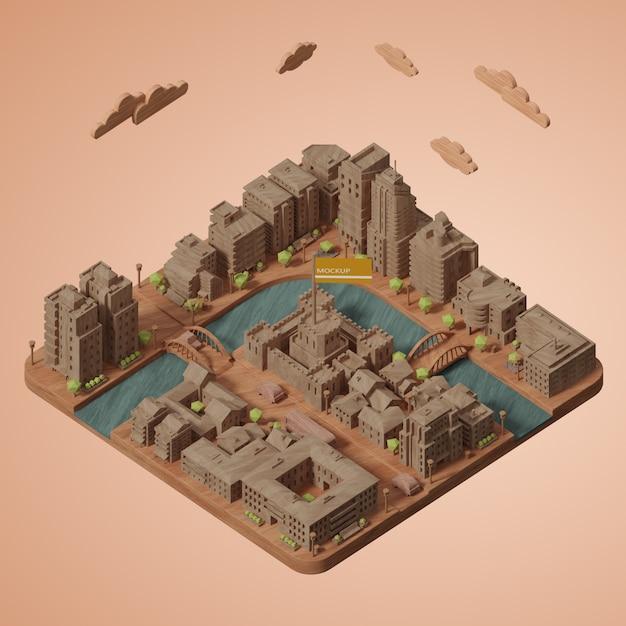 Werelddagmodel voor steden Gratis Psd