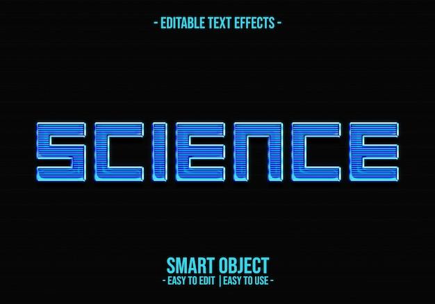 Wetenschap tekststijl effect Premium Psd