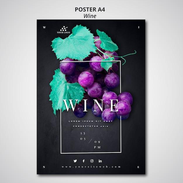 Wijnbedrijf posterontwerp Gratis Psd