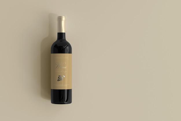 Wijnfles mockup Gratis Psd