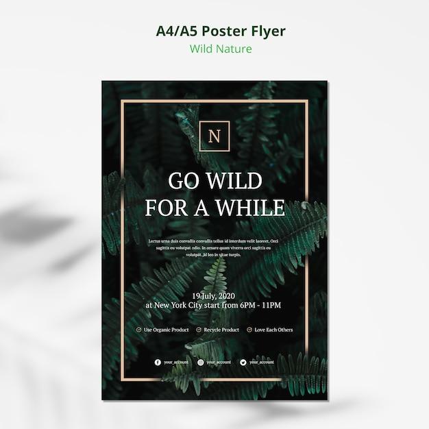 Wilde natuur concept poster flyer Gratis Psd